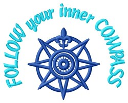 Inner Star Compass embroidery design