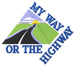 My Way Highway embroidery design