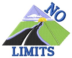 No Limits Highway embroidery design