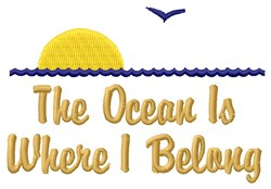 Ocean Text embroidery design