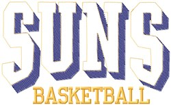 Suns Basketball embroidery design