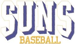Suns Baseball embroidery design