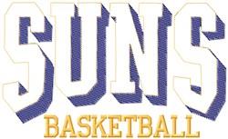 Suns Basketball embroidery design