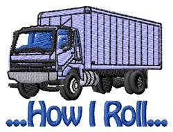 Freight Truck embroidery design