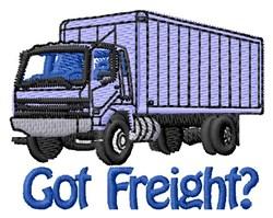 Got Freight Truck embroidery design