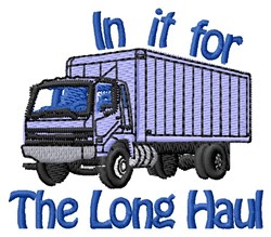Long Haul Freight Truck embroidery design