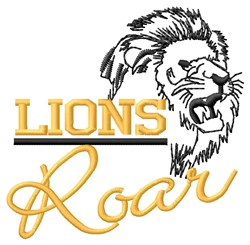 Lions Roar embroidery design