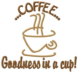 Coffee Goodness embroidery design