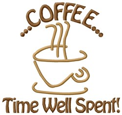 Coffee Time embroidery design