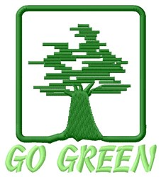 Go Green embroidery design