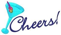 Cheers Martini embroidery design