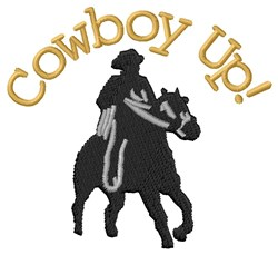 Cowboy Up! embroidery design