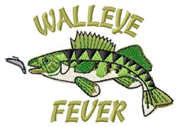Walleye Fever embroidery design