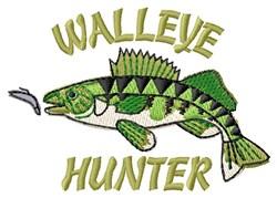 Walleye Hunter embroidery design