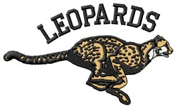Leopards Mascot embroidery design