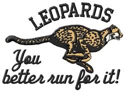 Leopards Mascot embroidery design
