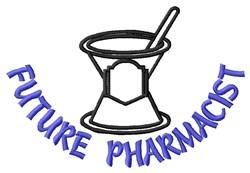 Future Pharmacist embroidery design