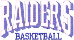 Raiders Basketball embroidery design