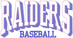 Raiders Baseball embroidery design