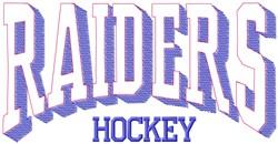 Raiders Hockey embroidery design