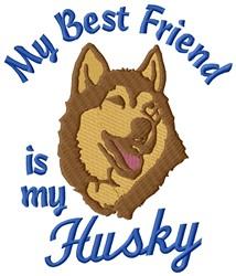 Husky Friend embroidery design