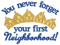 First Neighborhood embroidery design