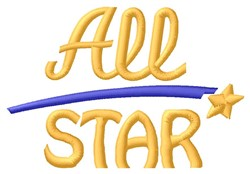 All Star embroidery design