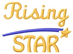 Rising Star embroidery design