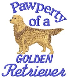 Golden Retriever Pawperty embroidery design