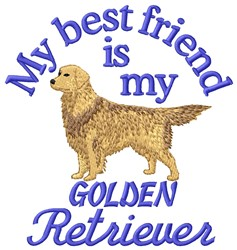 Golden Retriever Friend embroidery design