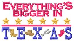 Bigger Texas embroidery design