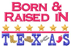 Born Texas embroidery design