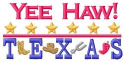 Yee Haw Texas embroidery design