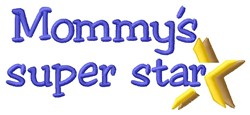 Mommys Star embroidery design