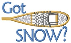 Got Snow? embroidery design