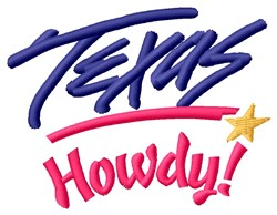 Texas Howdy embroidery design