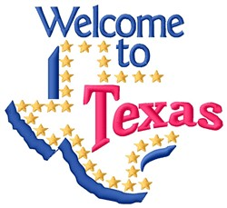 Welcome Texas embroidery design