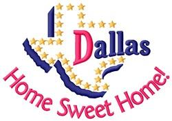 Dallas Home embroidery design