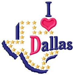 Love Dallas embroidery design
