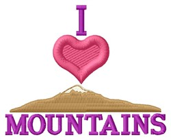 Love Mountains embroidery design