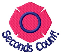 Seconds Count embroidery design