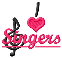 Love Singers embroidery design