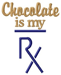 Chocolate RX embroidery design