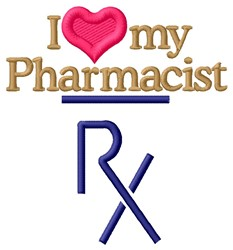 Love Pharmacist embroidery design