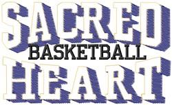 Sacred Heart Basketball embroidery design