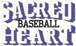Sacred Heart Baseball embroidery design