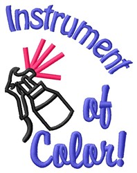 Instrument Of Color embroidery design