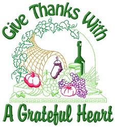 Grateful Heart embroidery design