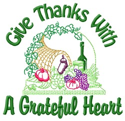 Grateful Heart embroidery design
