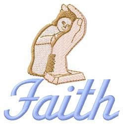 Faith embroidery design